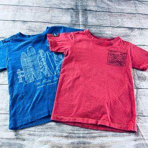 Set of 2 Boys sz 5 Naartjie tees blue/red